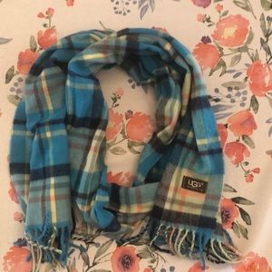 Accessories - Blue Flannel Ugg Scarf